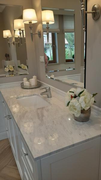 łazienka, lustro, umywalka